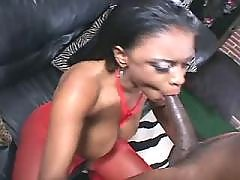Yummy ebony BBW making sweaty sex