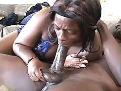 Porn adventure with appetizing ebony fat lady
